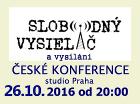 Česká Konference, živě 26.10.2016