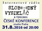 Česká Konference, živě 31.8.2016