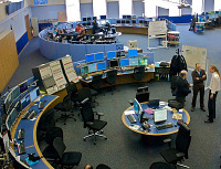 Kontrolní centrum CERN, Ženeva. Autor fotografie: Torkild Retvedt, licence CC BY-SA 2.0