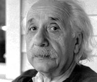 Albert Einstein na fotografii z 50. let 20. stol.