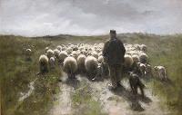 Anton Mauve (1838-1888) - Pastýř a ovce