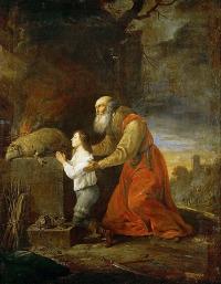 David Teniers mladší (1610-1690) - Abraham a Izák