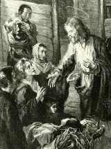 Fritz von Uhde (1848-1911) - Ježíš uzdravuje nemocné