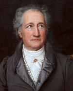 Johann Wolfgang von Goethe, portrét od J. K. Stielera z roku 1828