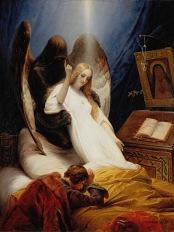 Horace Vernet - Anděl smrti (1851)