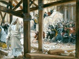 James Tissot (1836-1902) - Židé chtějí kamenovat Ježíše