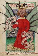 Satan prodává odpustky. Jenský kodex, 1490-1510
