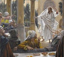James Tissot (1836-1902) - Ježíš a farizeové