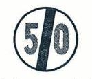 Konec omezené rychlosti - československá dopravní značka podle vyhlášky z roku 1966