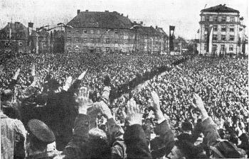 Demonstrace sudetských Němců 1.5.1938 v Liberci