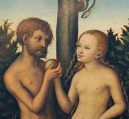 Lucas Cranach starší - Adam a Eva (1532)