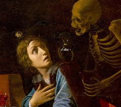 Giovanni Martinelli (1600-1659) - Memento Mori, detail z obrazu