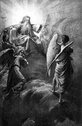Mihály Zichy (1827-1906) - Lucifer před Hospodinem