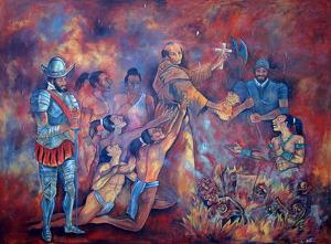 Ničení mayské literatury španělskými kněžími v 16. století