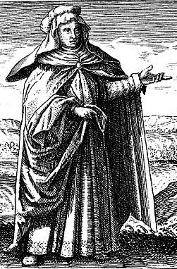 Marie Alchymistka, fiktivní portrét, žila údajně v 1. století v egyptské Alexandrii