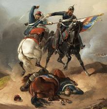 Richard Benno Adam (1873-1937) - Výjev z prusko-francouzské války (1870-71)