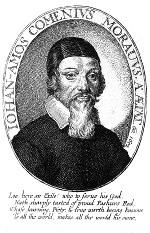 Jan Amos Komenský, portrét od Václava Hollara