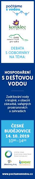 Hospodaříme s dešťovou vodou - debata s odborníky - 14-10-2019, České Budějovice