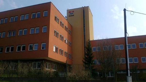Budova ČHMÚ v Praze-Komořanech.