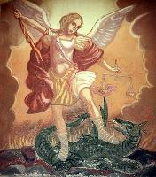Archanděl Michael zápasí s drakem