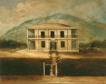Dům na obraze neznámého autora z poloviny 19. století