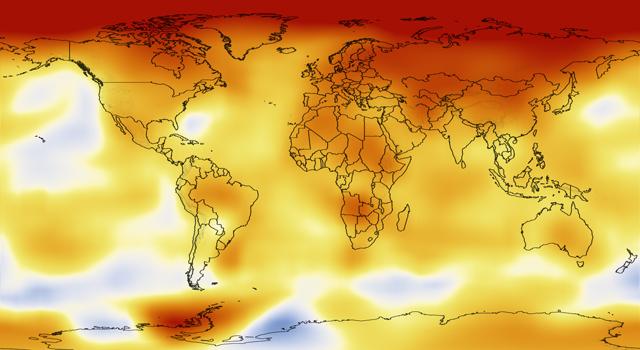 Změny ve vývoji teplot v období 2000-2009 ve srovnání s dlouhodobým průměrem 1951-1980