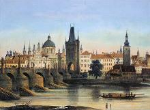 František X. Sandmann - Karlův most (1840)