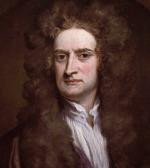 Sir Isaac Newton, portrét z roku 1702 od Godfreye Knellera