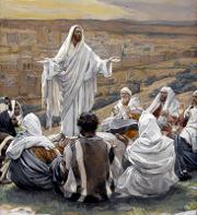 Ježíš s učedníky, James Tissot (1836-1902)