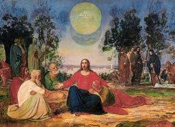 Ježíš s učedníky na obraze Alexandra A. Ivanova (1806-1858)