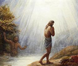 John Linnell (1792-1882) - Jan Křtitel křtí Ježíše
