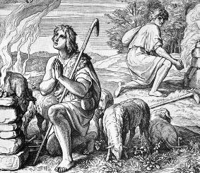 Kain se chystá zabít Ábela