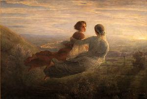 Obraz francouzského malíře Louise Janmota (1814-1892)