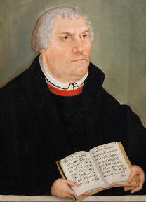 Lucas Cranach mladší (1515-1586) - Portrét Martina Luthera