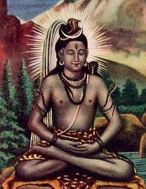 Meditující Šiva (ilustrace, cca 1940)