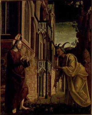 Michael Pacher (1430-1498) - Pokušení Krista