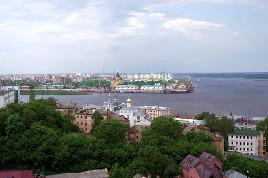 Soutok Volhy a Oky v Nižném Novgorodě