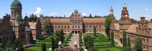 Černovická národní univerzita Jurije Feďkovyče, dříve rezidence bukovinských metropolitů