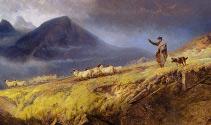 Obraz anglického malíře Richarda Ansdella (1815-1885)