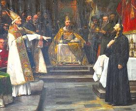 Václav Brožík (1851-1901) - Mistr Jan Hus před kostnickým koncilem