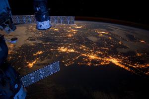 Východní pobřeží USA pohledem z ISS (6.2.2012)