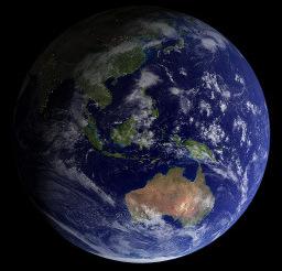 Země - modrá planeta (NASA, 2002)